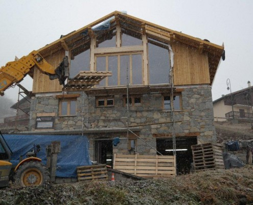 Chalet Chatelard works in progress