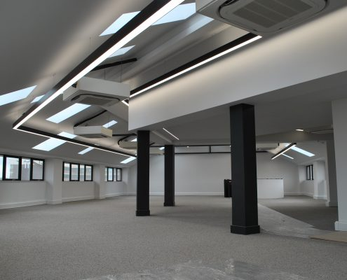 commercial LED light installation